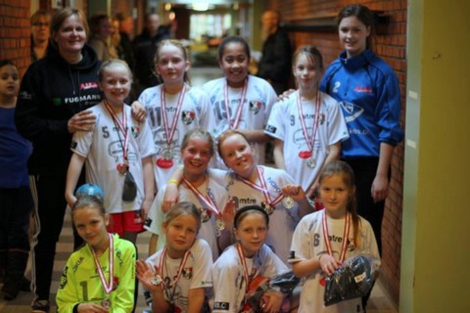 U10 piger - Faxe Kondi Julecup 2012 - Sølvmedaljer
