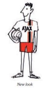 Ajax mand holder bolden i armen - new look