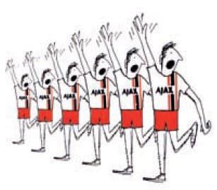 Ajax mand x 6 kalder på bolden - new look
