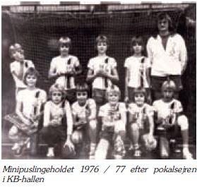 Minipuslingeholdet 1976-1977 - pokalvindere