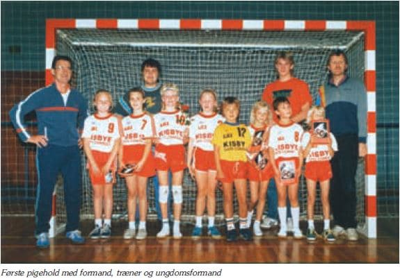 Første pigehold 1988