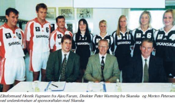 Sponsoraftale med Skanska - 1 herrer og 1 damer -  2000
