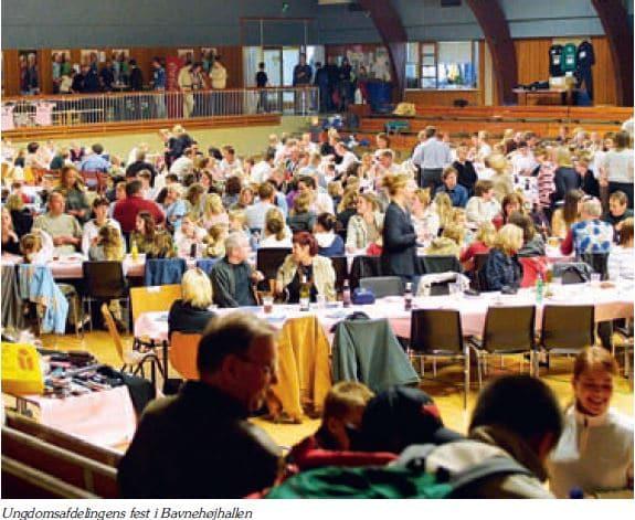 Ungdomsafdelingen fest Bavnehøj Hallen 2003